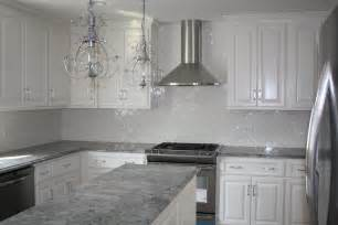 White And Grey Granite Countertops by Gray Kitchen Cabinets With White Countertops Quicua