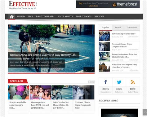 layout slider wordpress 30 high quality wordpress themes perfect for magazine or