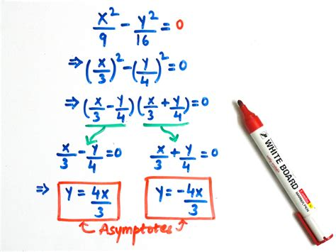 How To Find For A How To Find The Equations Of The Asymptotes Of A Hyperbola