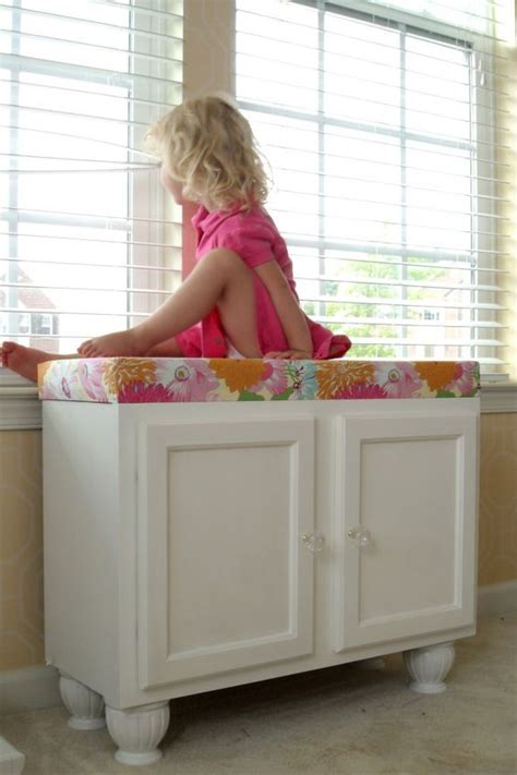 fabric covered storage bench storage bench from kitchen cabinets add some feet add a