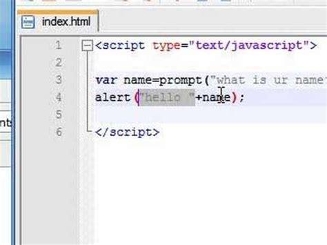 tutorial javascript prompt javascript tutorial 5 prompt youtube