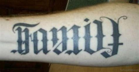 family tattoo ambigram 63 fabulous ambigram tattoos on arm