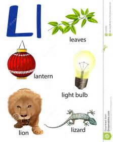 le n und l things that start with the letter l stock vector image