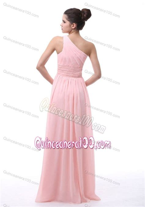 light pink dama dresses chiffon light pink one shoulder quinceanera dama dress