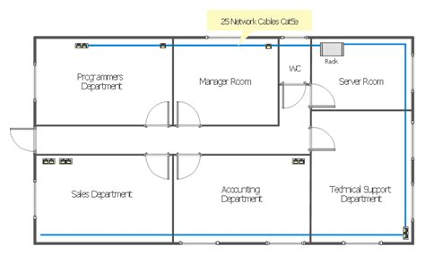 ethernet local area network layout floor plan office