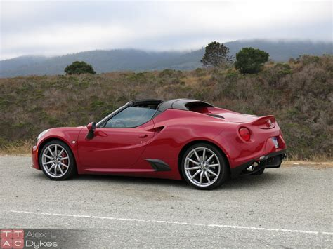 alfa romeo 2016 alfa romeo 4c spider review with video