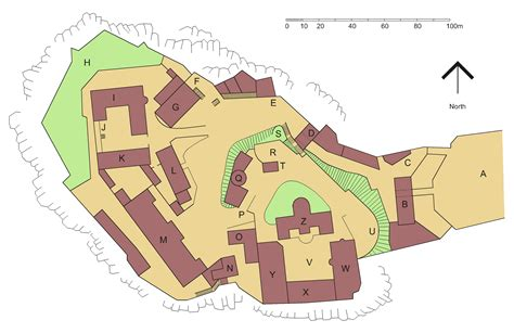 file edinburgh castle plan coloured png wikimedia commons