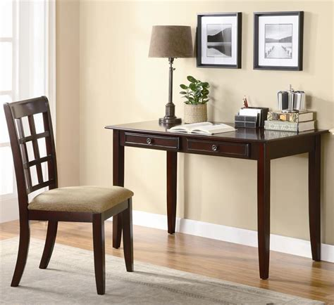 cherry wood writing desk 48 quot cherry wood writing desk w chair efurniturehouse