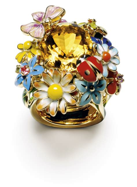 Diorette Rings by Diorette Ring Yellow Gold Citrine Amethyst