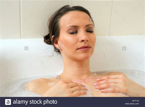 bathroom facial young bathing in a bathtub bathroom washing face woman