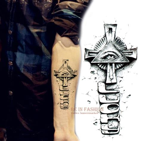 tattoo 3d god cross tattoo arm reviews online shopping cross tattoo