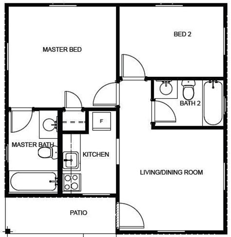 600 Sq Ft Floor Plans by Affordable Housing Floor Plan 600 Sq Ft House