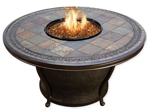 Agio Firepit Agio Tempe Gas Pit Table With Glass Cover Delivery Included Ebay