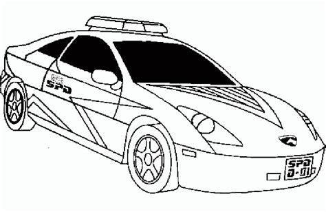 dibujos para colorear de policias dibujos de coches para colorear pictures