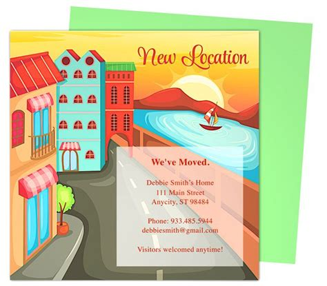 moving home cards template the 17 best images about moving announcements new address