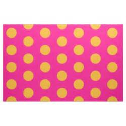 yellow with pink polka dots pink and yellow polka dot combed cotton fabric zazzle