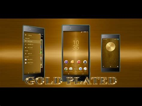 google themes gold gold plated theme for xperia app ranking and store data
