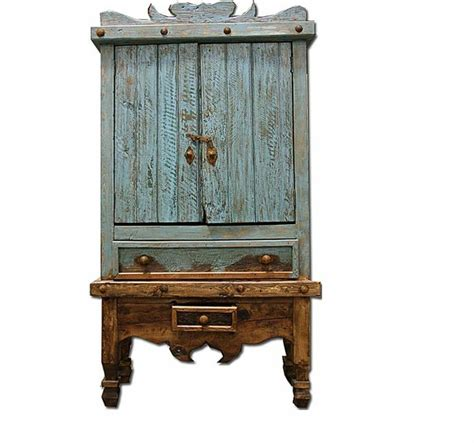 rustic western wall computer armoire