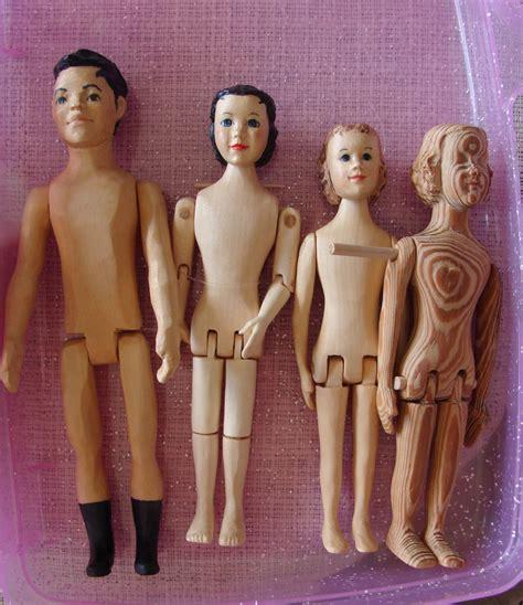 Wooden Dolls by Birmingham Doll Club Of Alabama Carved Wooden Dolls