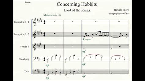 Extenuating Circumstances lotr fotr concerning hobbits brass quintet youtube
