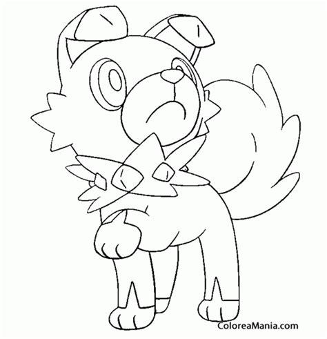 moon rock coloring page colorear rockruff pokemon sol y luna pokemon dibujo
