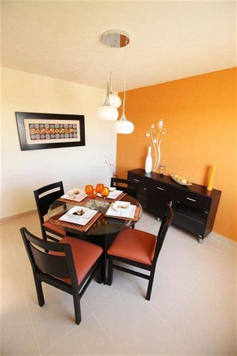 decoracion de comedores en color naranja  decoracion