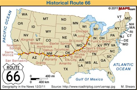 geography in the news iconic route 66 an adventure