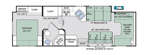 c floor plans class c motorhome thor motor coach