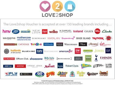 Love To Shop Gift Cards Uk - love2shop gift vouchers voucher express