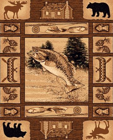 Pw Rugs by Pw Lodge363 4x5 Rustic Northwoods Cabin Area Rug 4 X 5