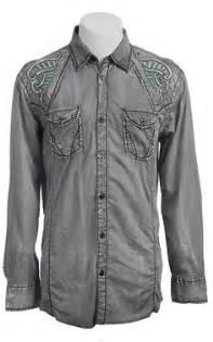 Kemeja Revival details about roar s shirt revival cross embroidered