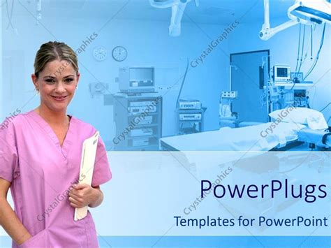 theme powerpoint hospital powerpoint template healthcare theme with smiling nurse
