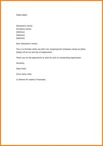 10 resignation letter sample simple and short joblettered