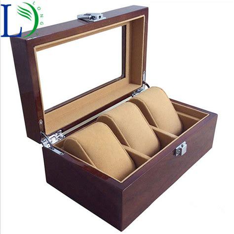 Promo 3 Window Storage high luxury 3 slots wood box window box 3 grids jewelry display storage box wooden