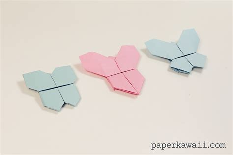Origami Butterfly Tutorial - origami butterfly tutorial 3 in 1 paper kawaii