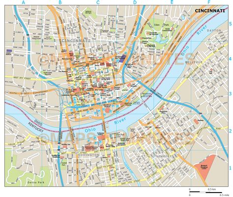 map of cincinnati royalty free cincinnati illustrator vector format city map