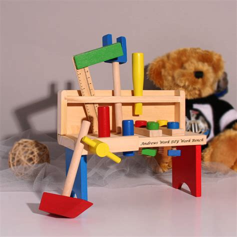 tool benches for kids small personalised wooden tool bench for kids by