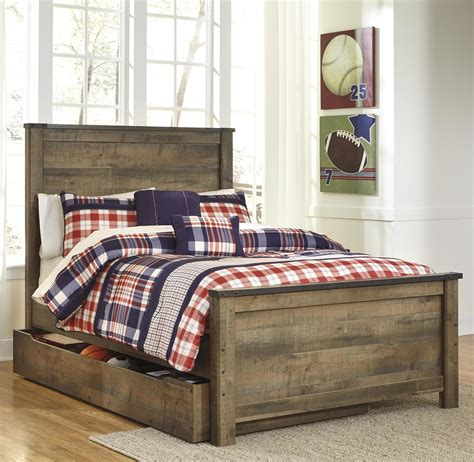 ashley furniture trundle bed signature design by ashley trinell rustic look full panel