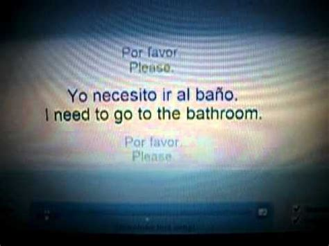 i am going to the bathroom in spanish i need to go to the bathroom spanish w lyrics youtube