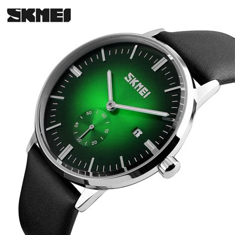 Jam Tangan Quiksilver Qs7169b Date Leather skmei jam tangan analog pria 9083cl black green jakartanotebook