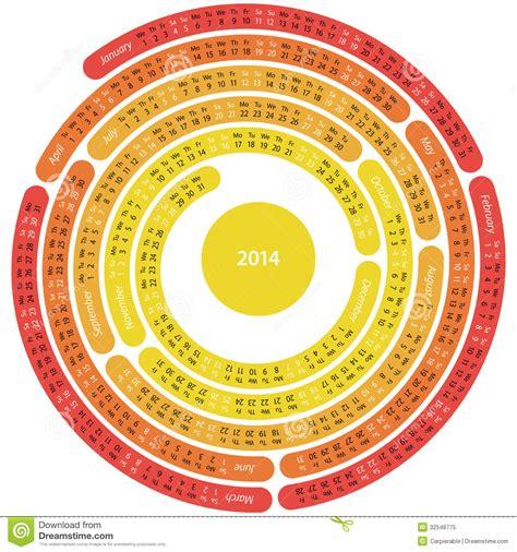 2014 labyrinth calendar stock vector image of calendar