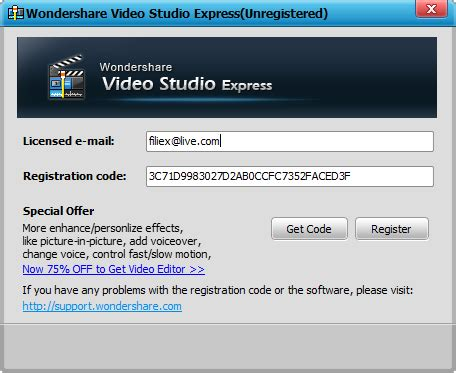 email register filmora wondershare video studio express 1 2 0 5 full key filiex