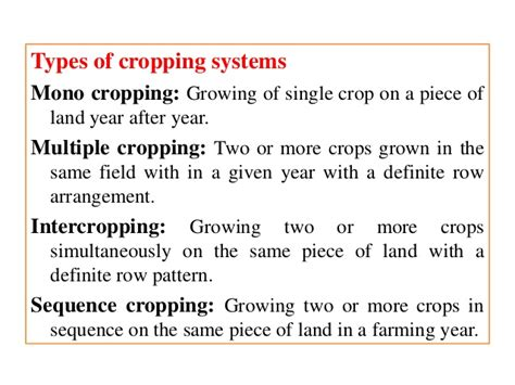 cropping pattern types rice based cropping system