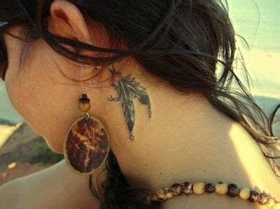 feather tattoo behind ear pinterest feather tattoo behind the ear tattoos pinterest