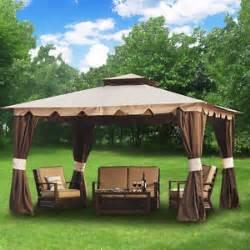 8 X 12 Patio Gazebo Hton 10 039 X 12 039 Gazebo Shelter With Mosquito