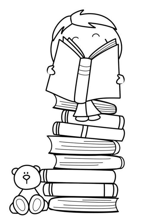 boy reading coloring page 232 best digital sts images on pinterest children