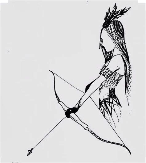 when i doodle i draw arrows indian bow and arrow drawing ink by chiccharcoals