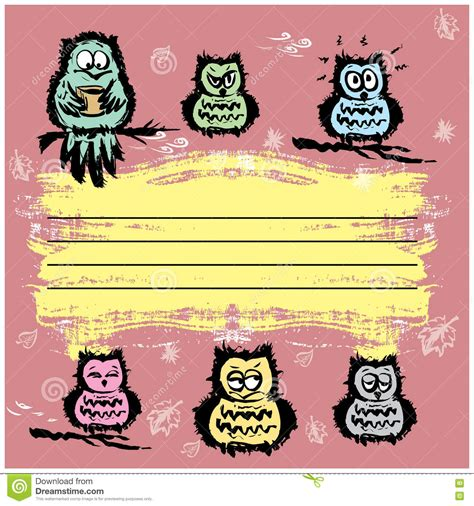 notebook cover design vector free download notebook cover design various cute owls stock vector