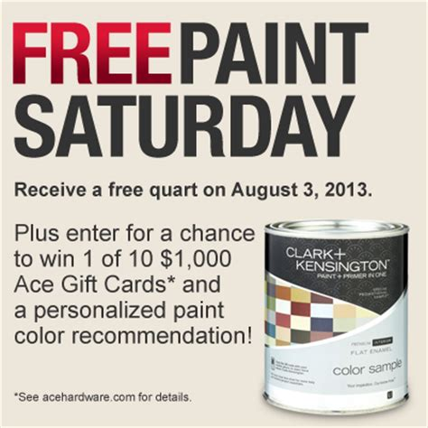 ace hardware coupon free paint offer this saturday 8 3 13 a buck a