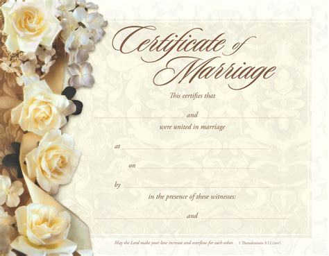 keepsake marriage certificate template search results for christian marriage certificate